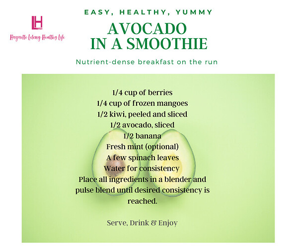 Avocado in a smoothie  (2)