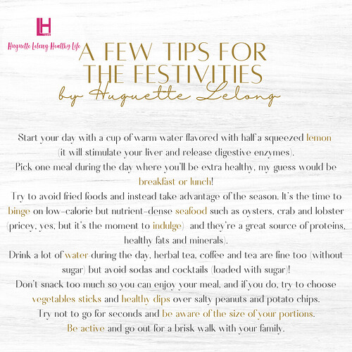 A few tips for the festivities  (1)
